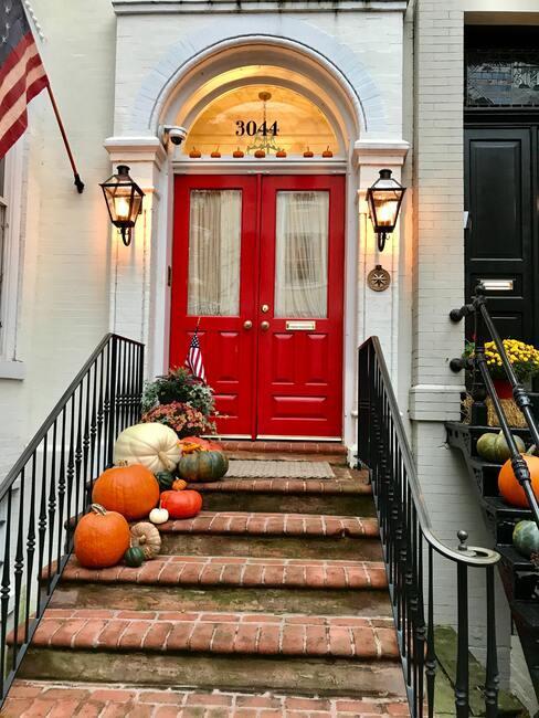 dekorace na dveře podzim