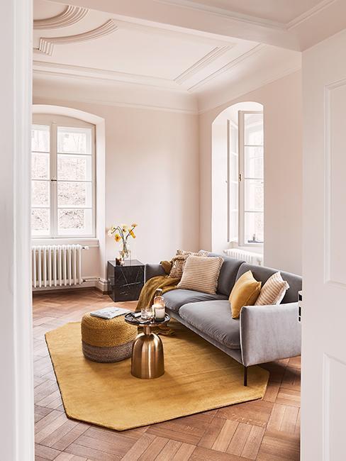 2 Obývací pokoj inspirace šedá