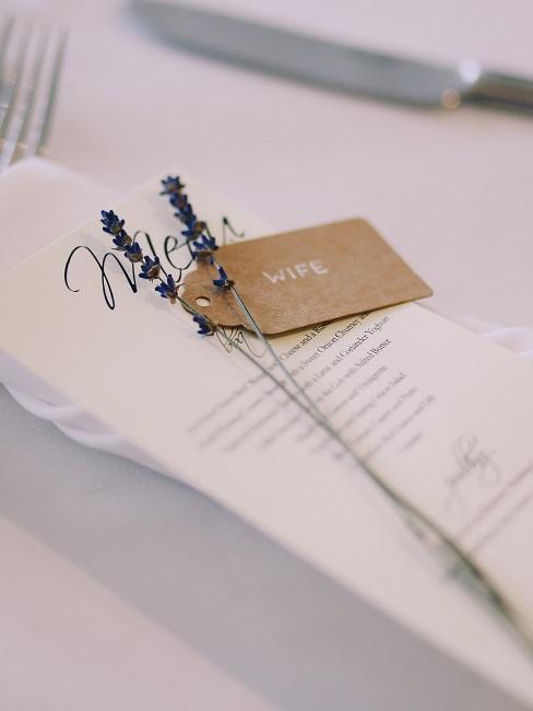 Lavendel für die Tischkarten