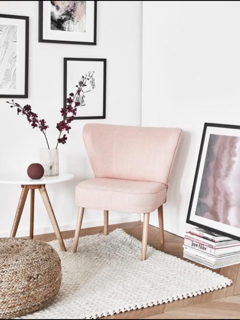 Sitzecke mit dänischen Stil