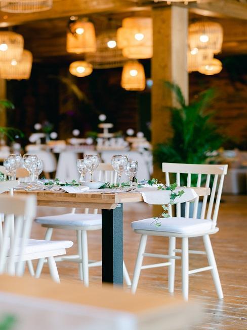 Tischdeko für die Location