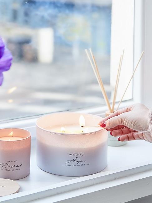 Entspannen Kerzen anmachen