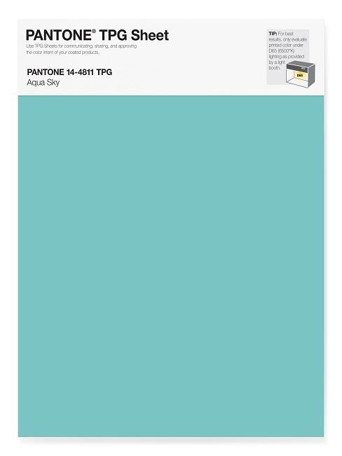 Pantone Trendfarbe Aqua Sky
