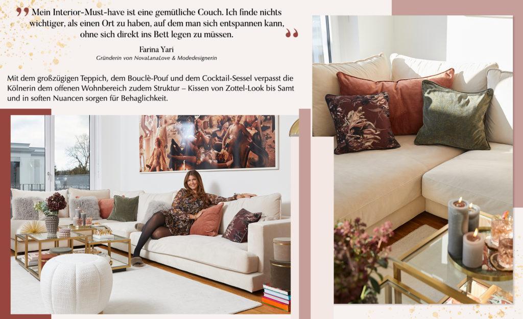Novalanalove auf Ihrem neuen Sofa im Wohnzimmer
