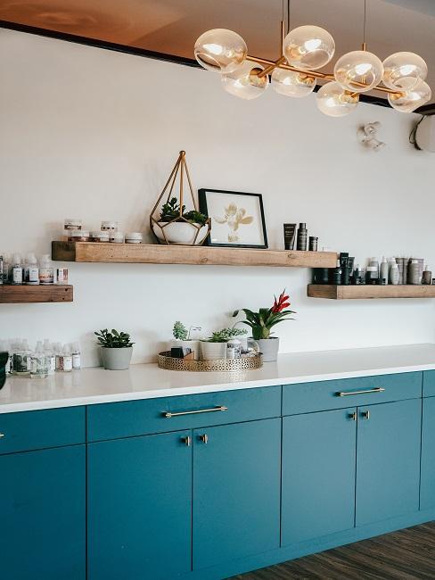 Küchen Design Ideen blau
