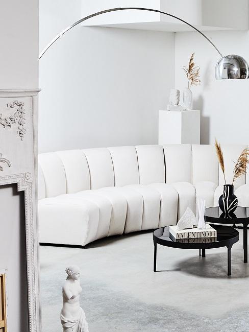 Luxus Wohnzimmer Weiß Sofa Teppich Deko