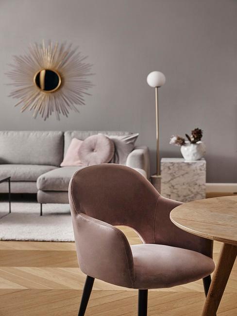 Warme Wandfarbe Erdton im Wohnzimmer