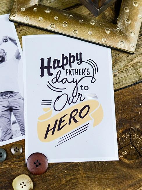 Vatertagsskarte mit Spruch