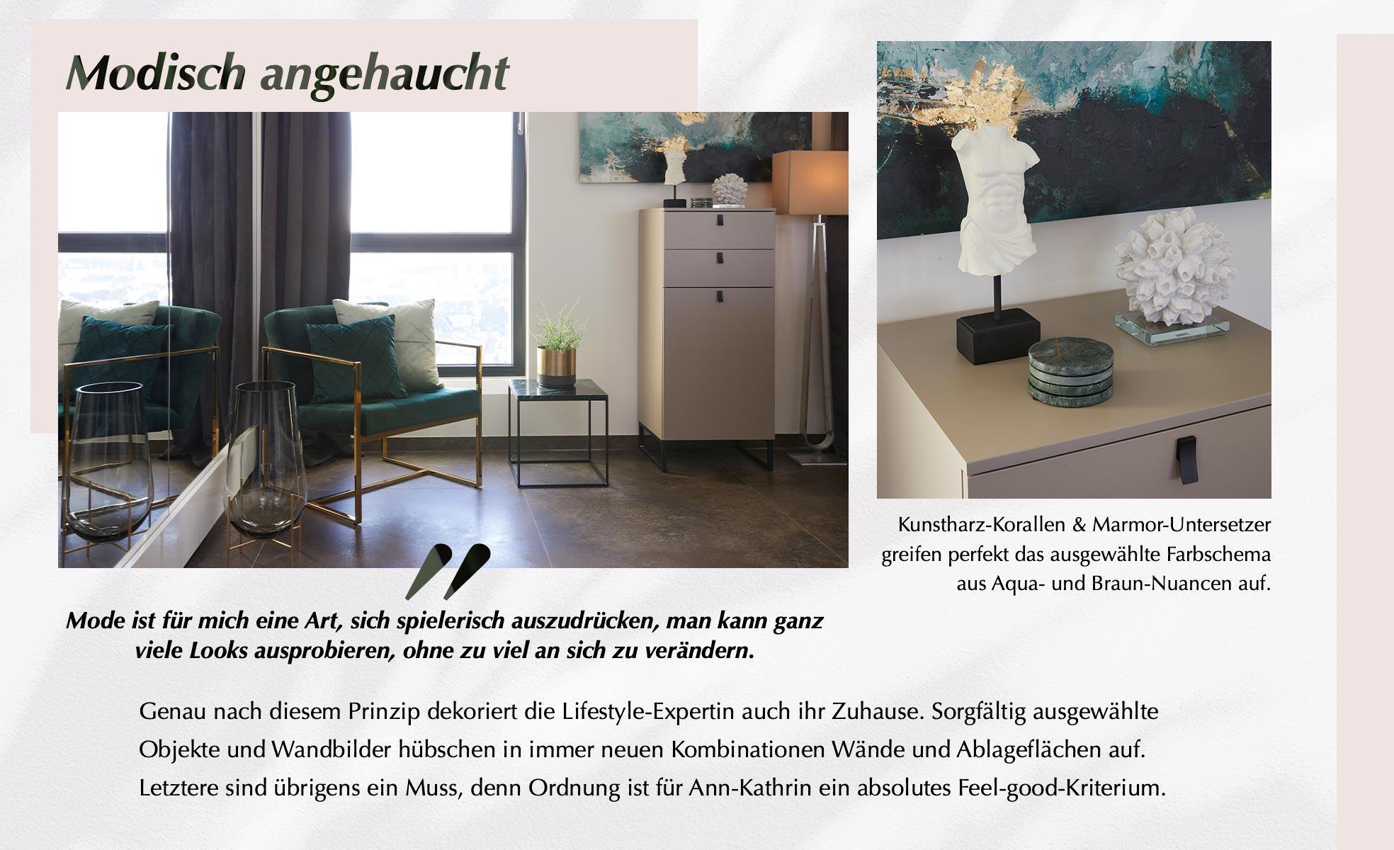 Ann-Kathrin Götze Wohnzimmer Deko Mode Samt