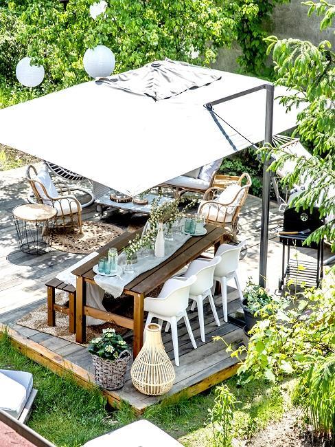 Sonnenschirm als Terrassenbeschattung