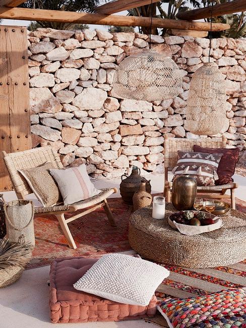 Sitzkissen und Sessel im marrokanischen Design