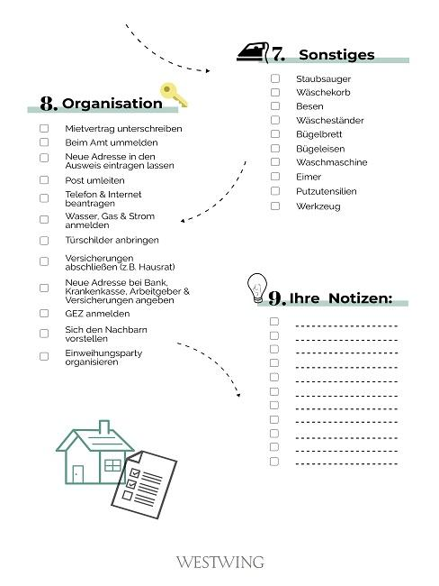 3. Teil der Checkliste für die erste eigene Wohnung