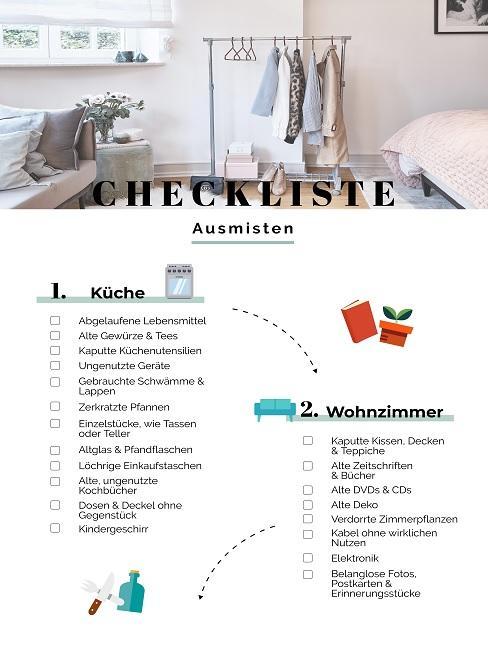 Checkliste zum Thema Ausmisten