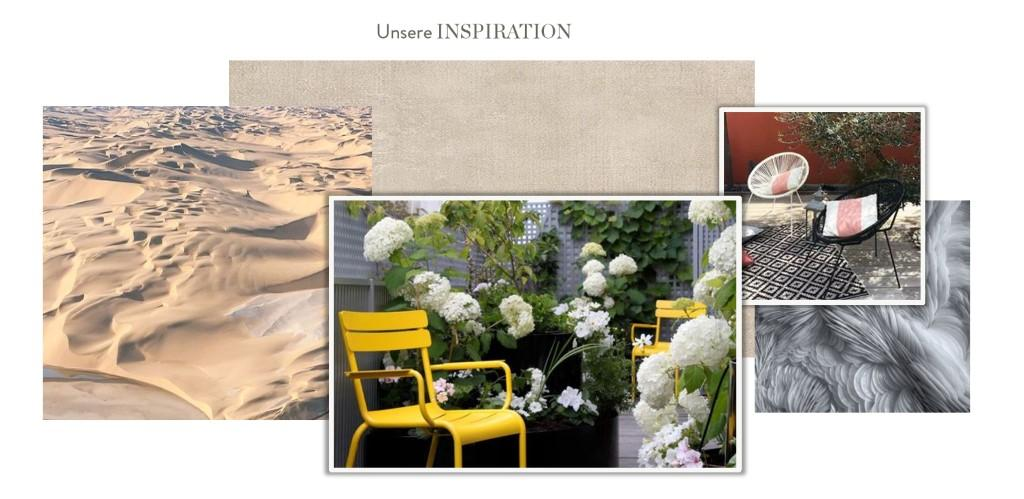 Terrasse neu gestalten Moodboard Inspiration