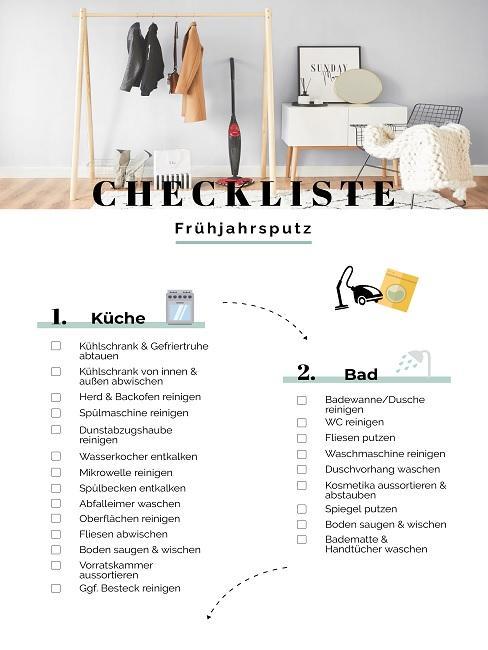 Frühjahrsputz Checkliste Teil 1