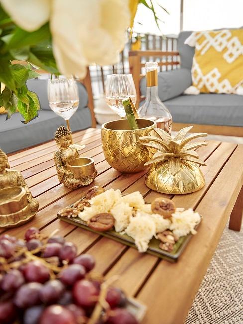 NOVALANALOVE Tisch Balkon Lounge