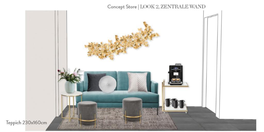 Laden einrichten Vorschlag 2 Sitzecke Sofa