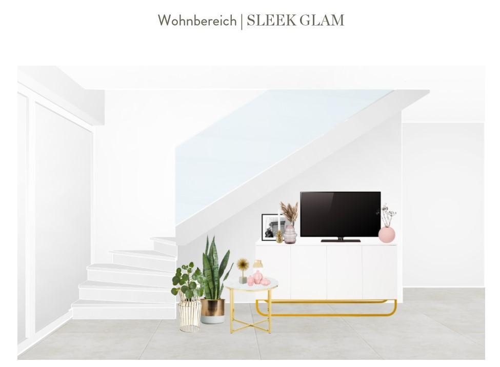 Reihenhaus einrichten Wohnzimmer Sideboard Entwurf 2