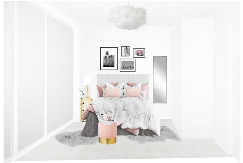 Reihenhaus einrichten Schlafzimmer Bett Entwurf 2