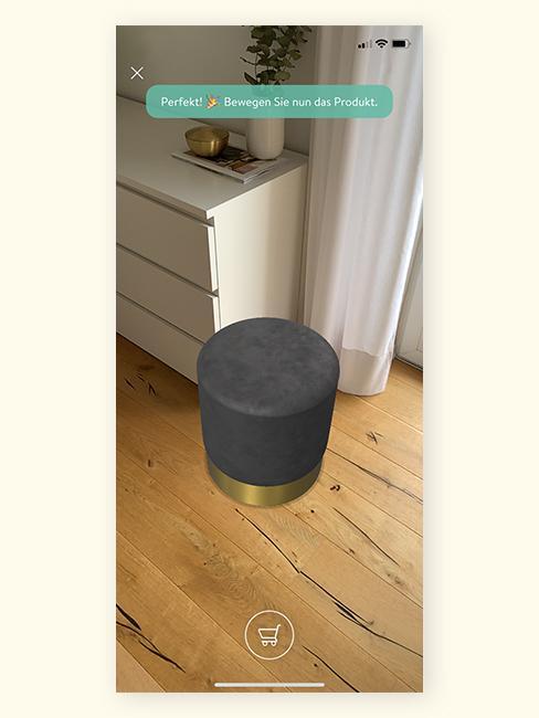 Augmented Reality Pouf bewegen