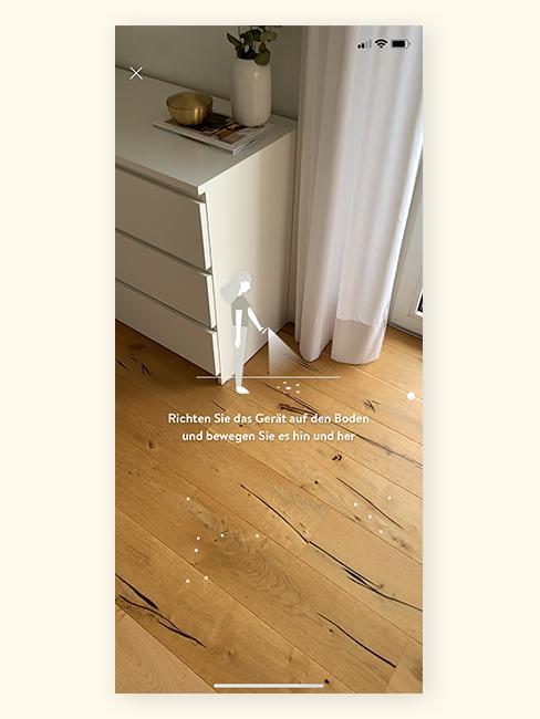 Augmented Reality Wohnzimmer scannen