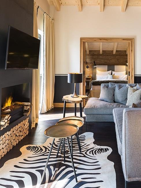 Wachtelhof Alpin Deluxe Suite Wohnbereich