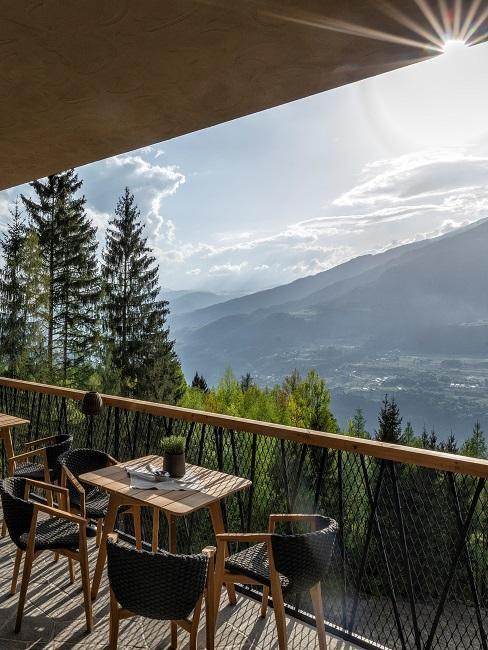 my arbor Hotel Terrasse Ausblick