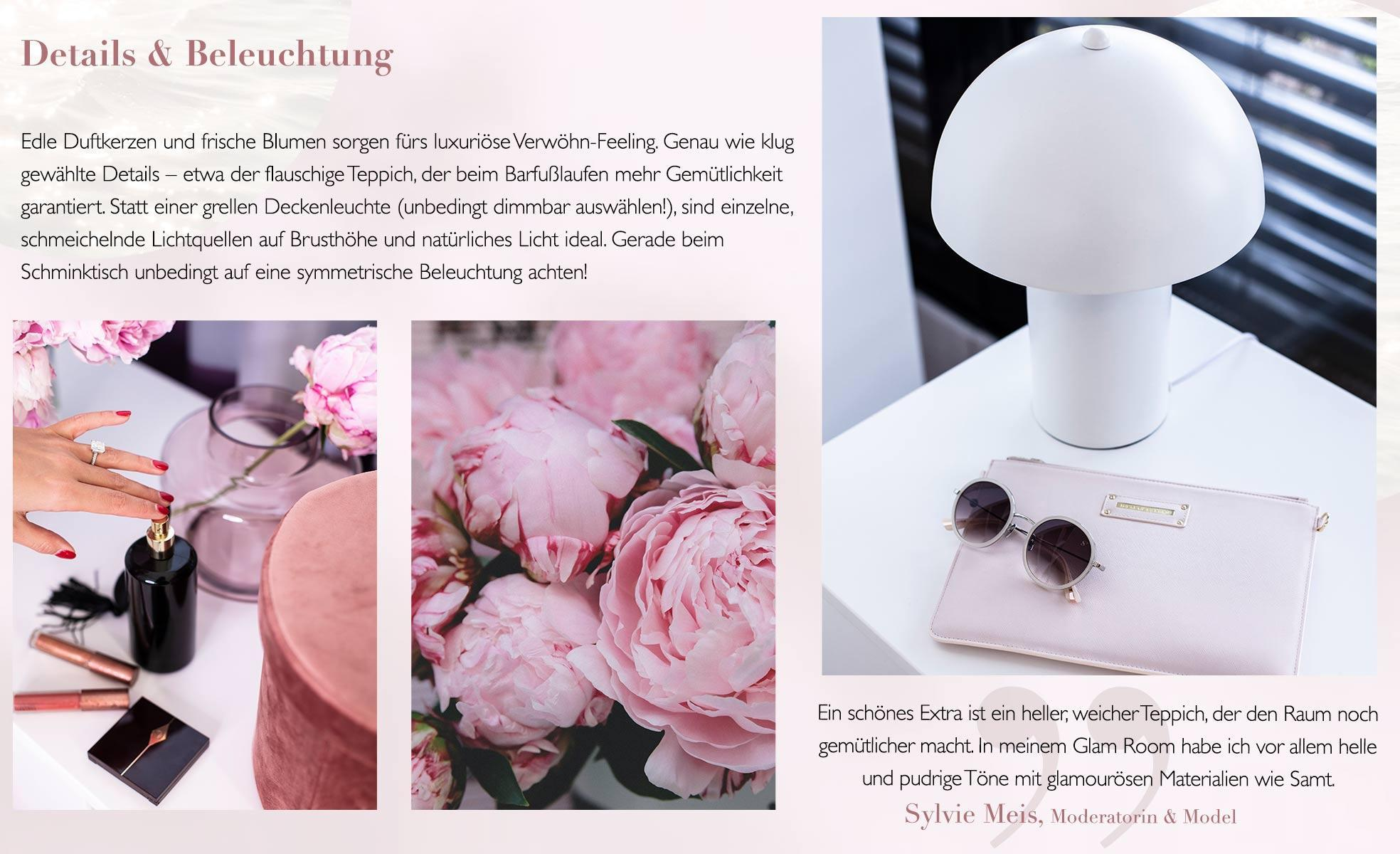Sylvie Meiss Glam Room Beleuchtung