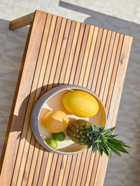 Tischdeko Sommer Schale Obst