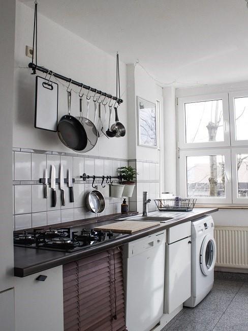 Küche selber bauen Küchenzeile Elektrogeräte