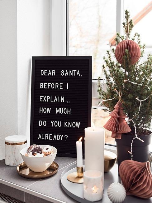 Schild mit Weihnachtsspruch