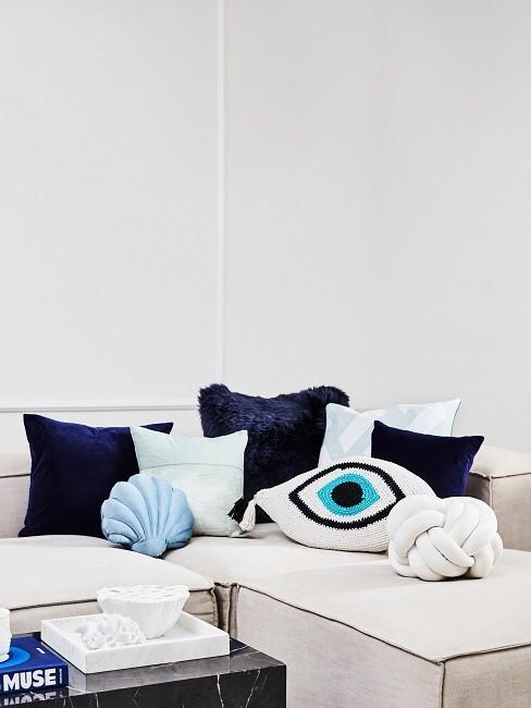 muscheln deko kissen sofa