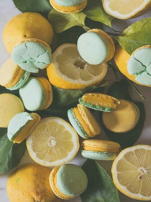 Zitronen Deko Dessert Macarons