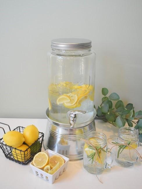 Zitronen Deko Wasserspender