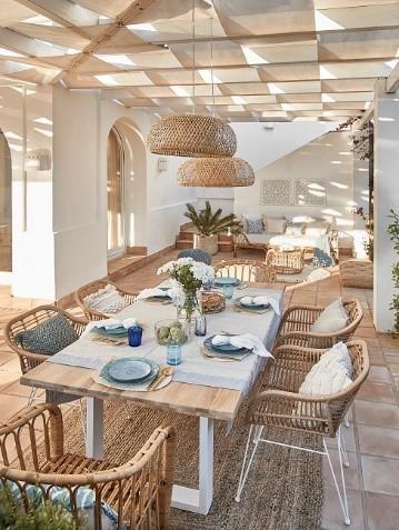 Moderne Tischdeko Blau minimalistisch
