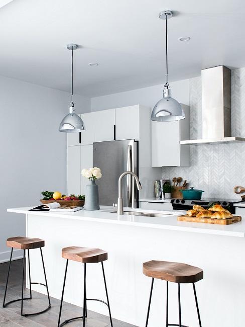 Moderne Küchen Weiß Kücheninsel
