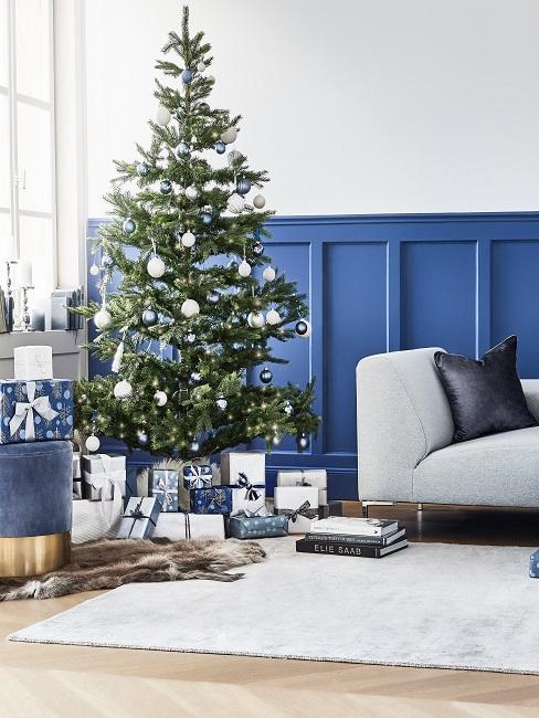 Blaue Wihnachtsdeko