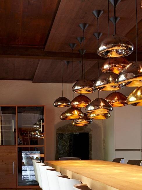 Einrichten mit Gold Esstisch Lampen