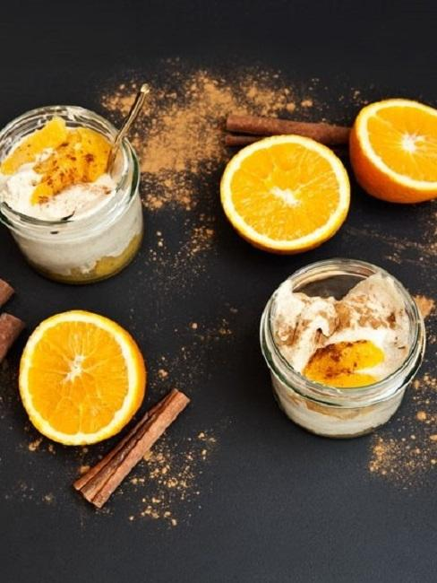 Eis ohne Eismaschine Zimteis Orangen