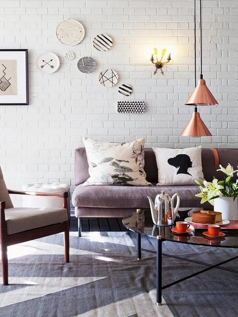 Pendelleuchten Duo Wohnzimmer Sofa