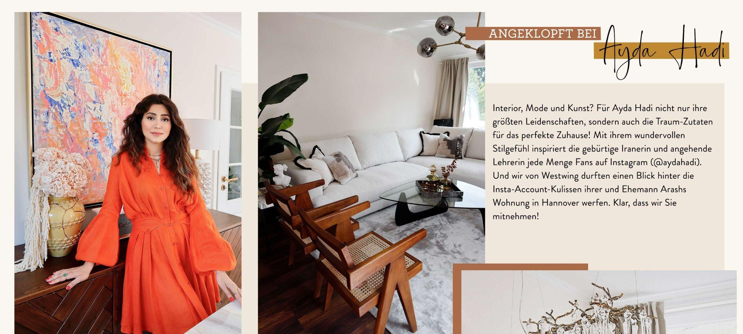 Ayda Hadi Info Text Wohnzimmer Sofa
