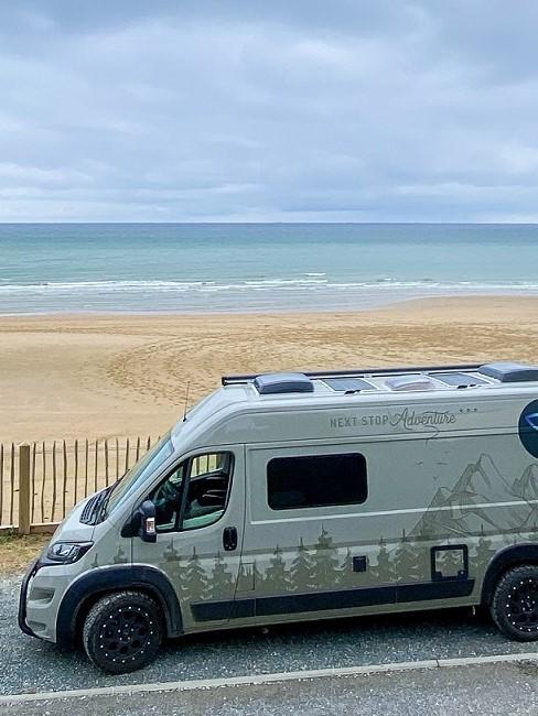 Campervan am Meer