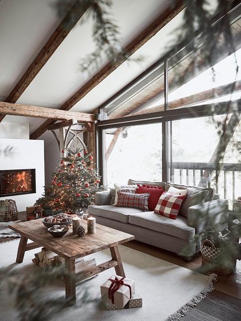 Luxus Chalet Stil Wohnzimmer Sofa Deko