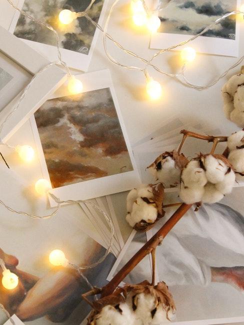 Polaroid Bilder und Lichterkette