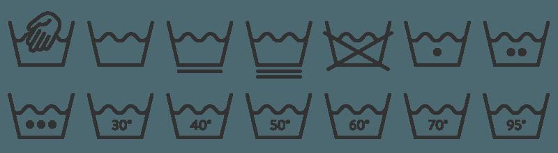 Die Waschsymbole fürs Waschen