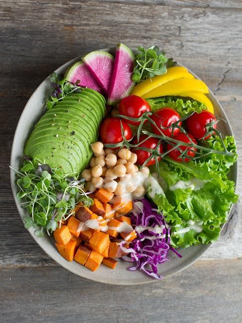 self care power food vegane salat bowl