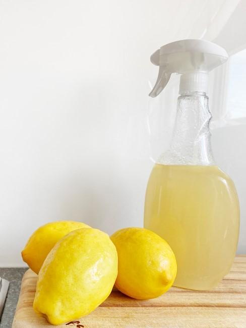 Zitronen auf der Ablage zum Mikrowelle reinigen