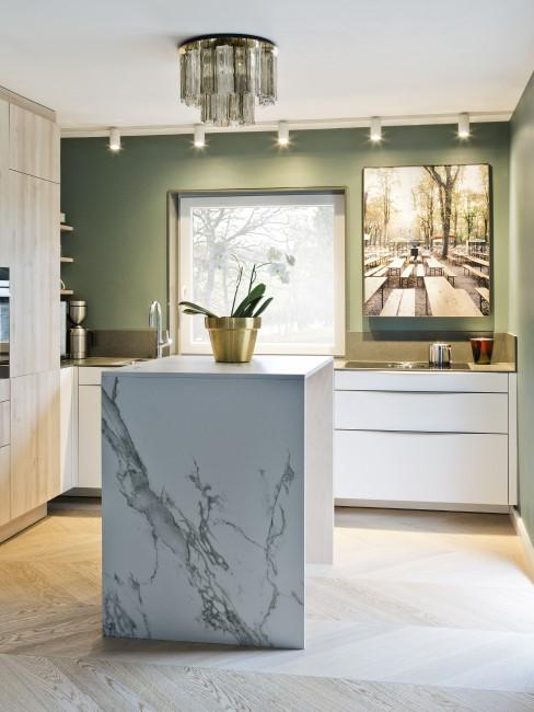 Küche putzen aus Marmor