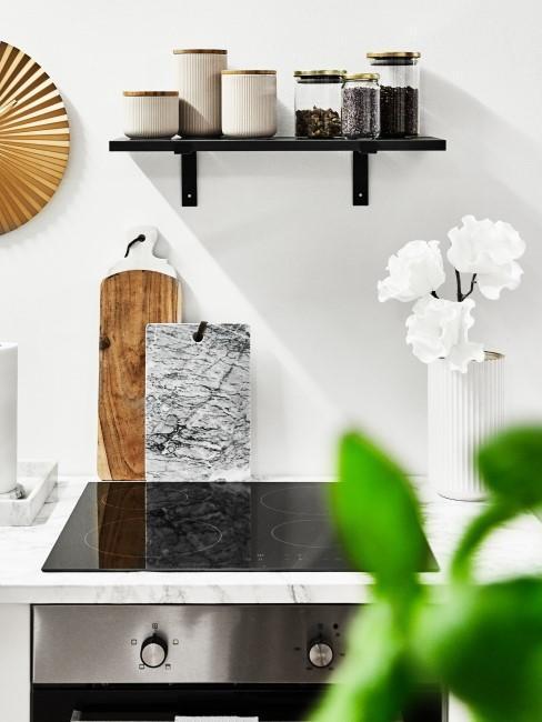 Küche putzen Marmor Arbeitsplatte