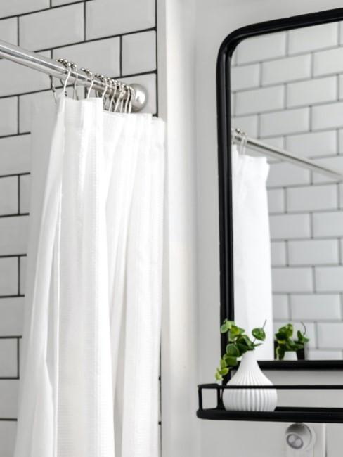Duschvorhang waschen weiß